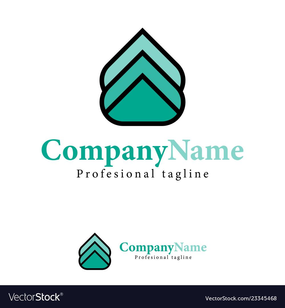 Arrow abstract design template logo iconic symbols