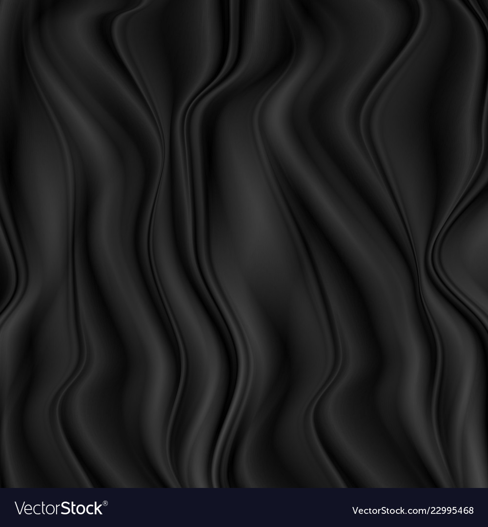 Black soft curved waves abstract background