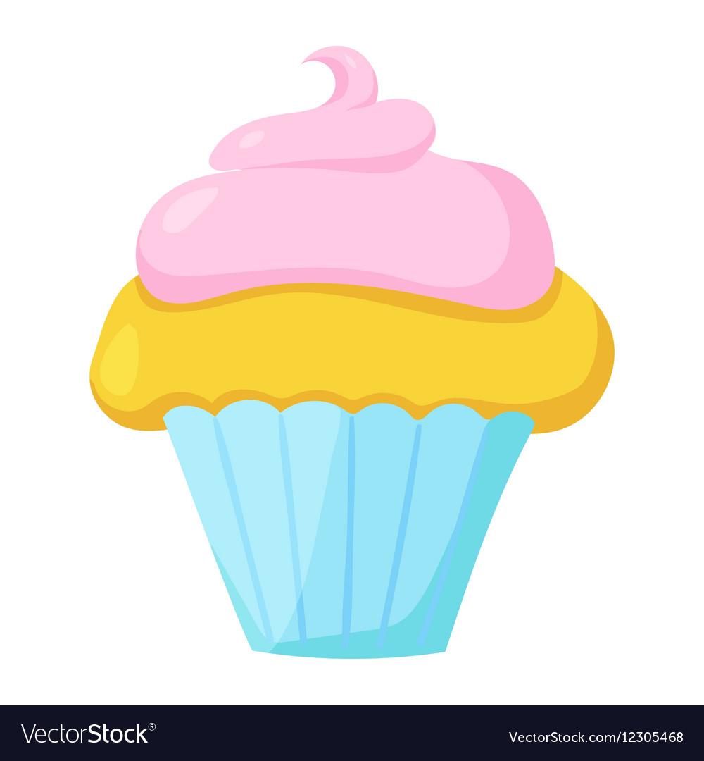 Fast food cupcake icon