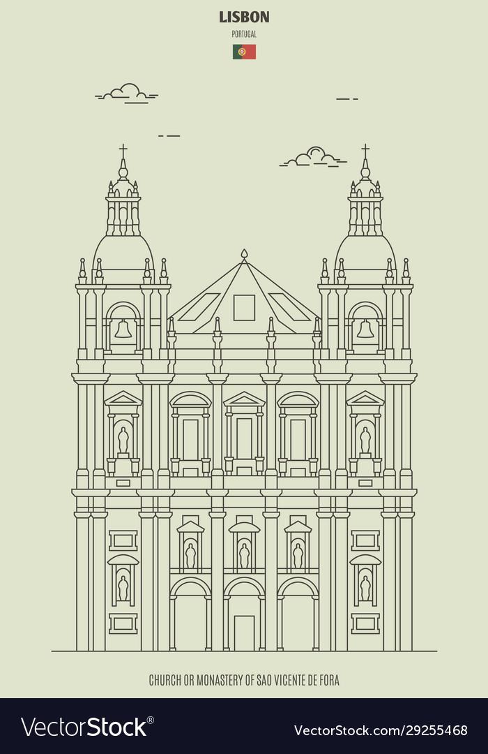 Monastery sao vicente de fora in lisbon