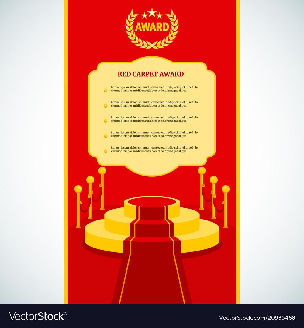 Red award carpet vector image