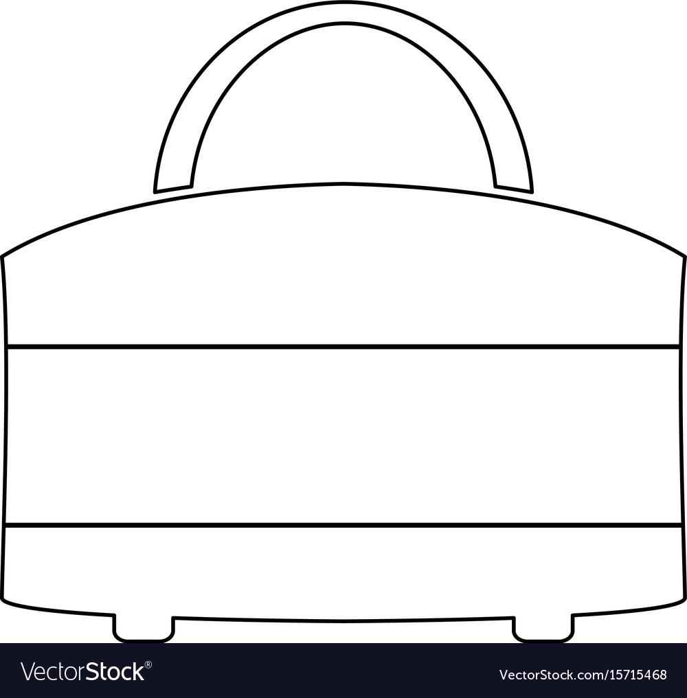 Woman bag icon vector image