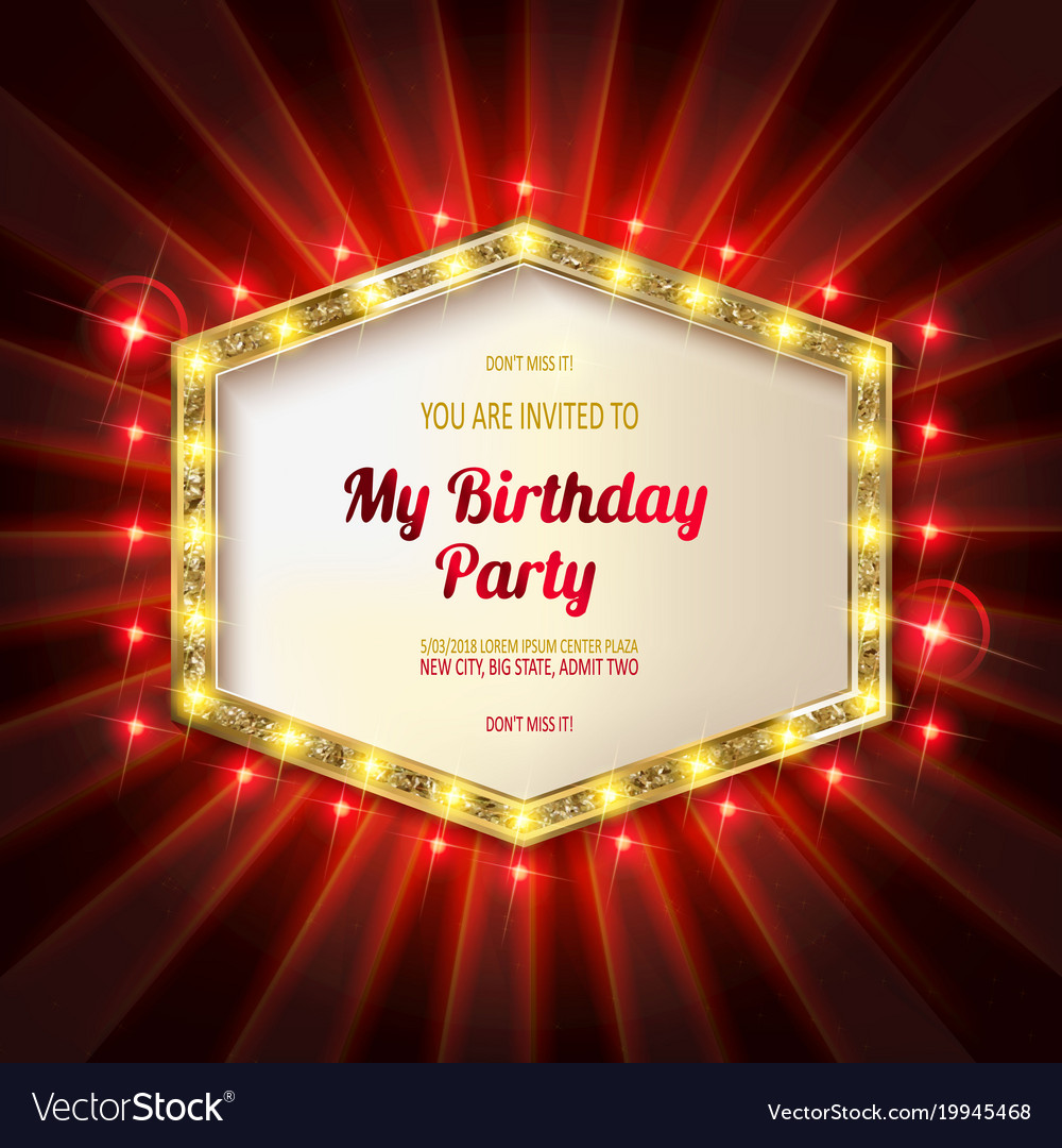 You are invited to a birthday party