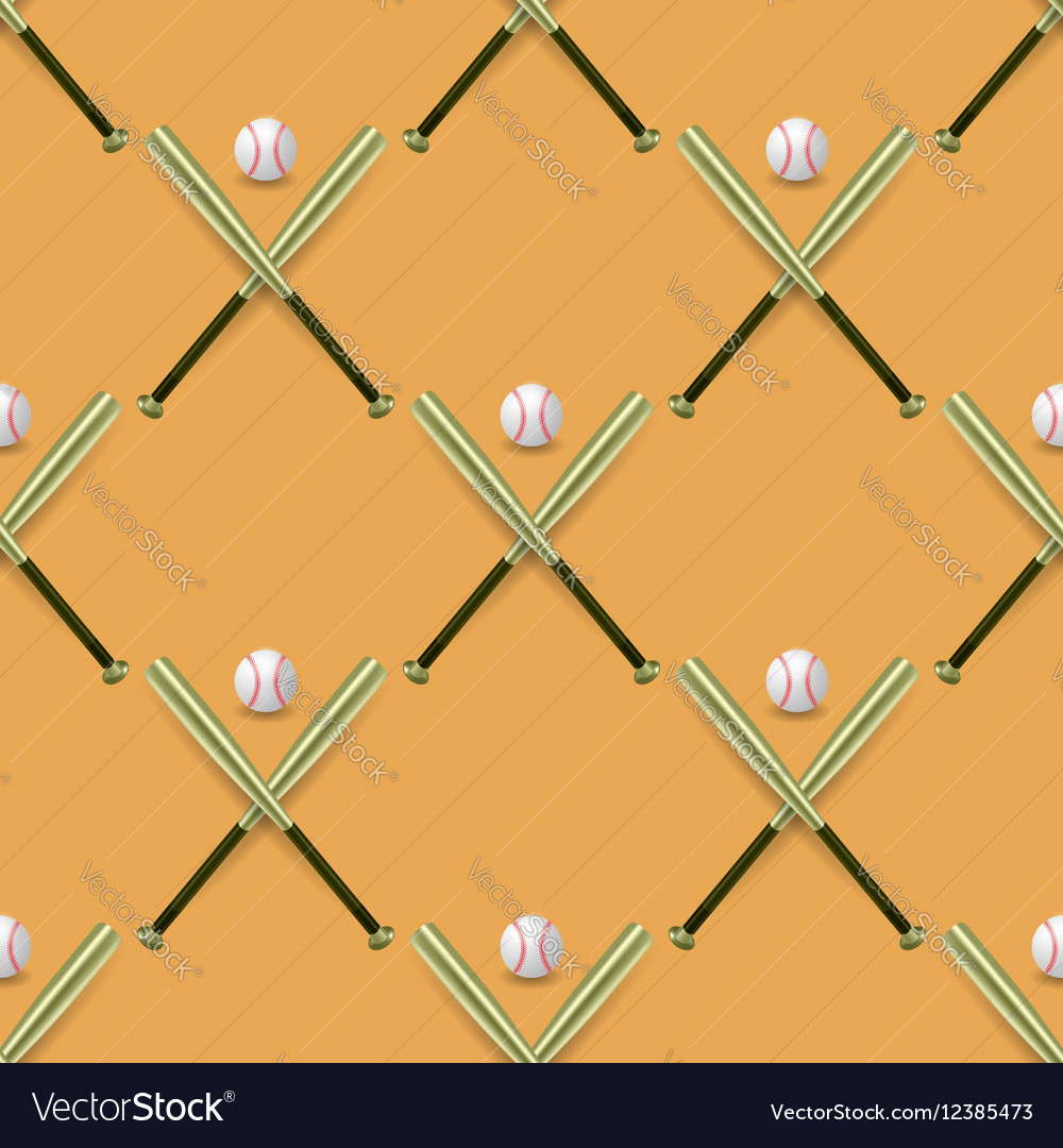 Baseball Sport Inventory Seamless Pattern vector image