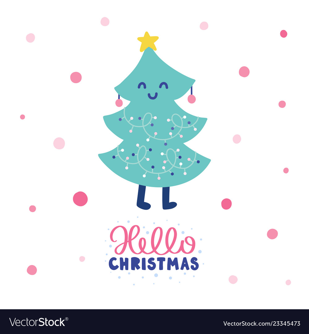 Colorful christmas card vector