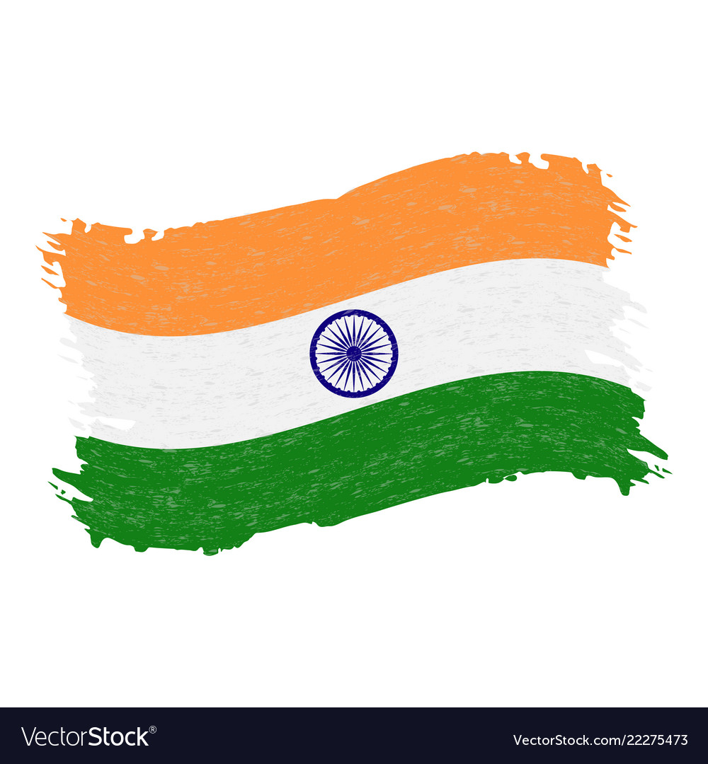 Flag of india grunge abstract brush stroke