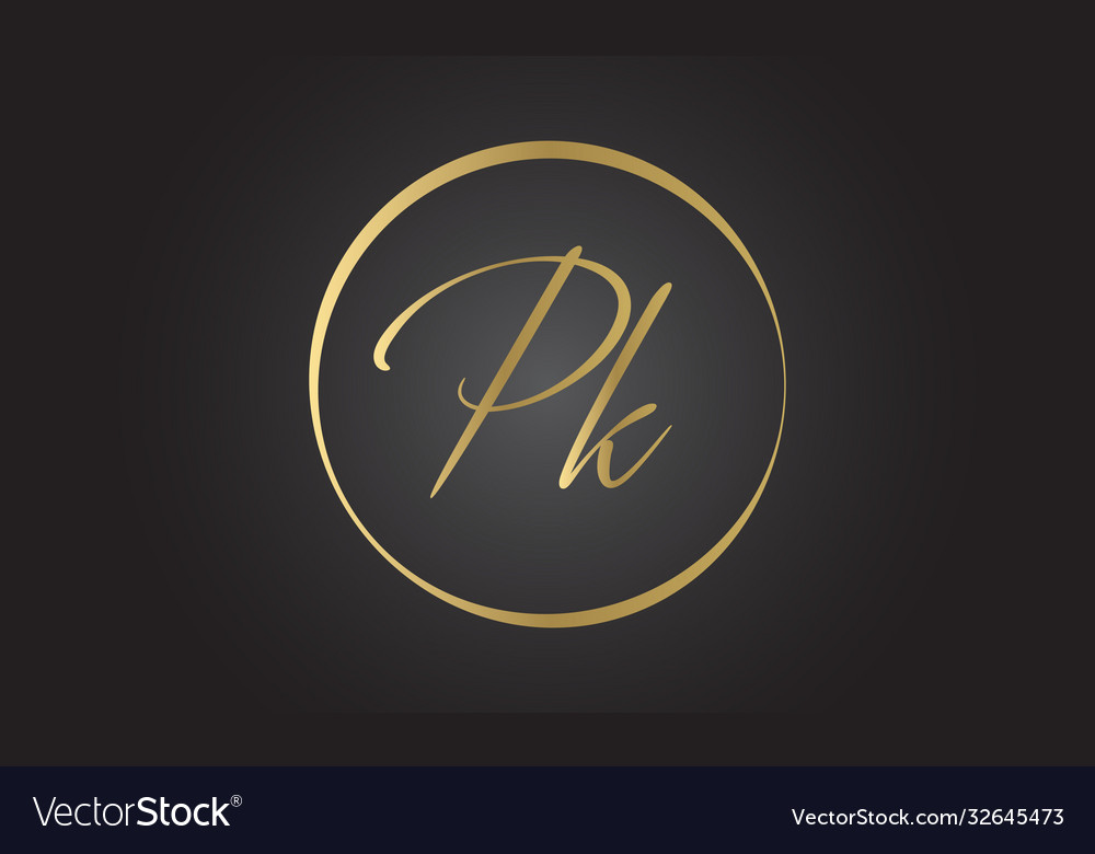 Initial pk letter logo with creative modern
