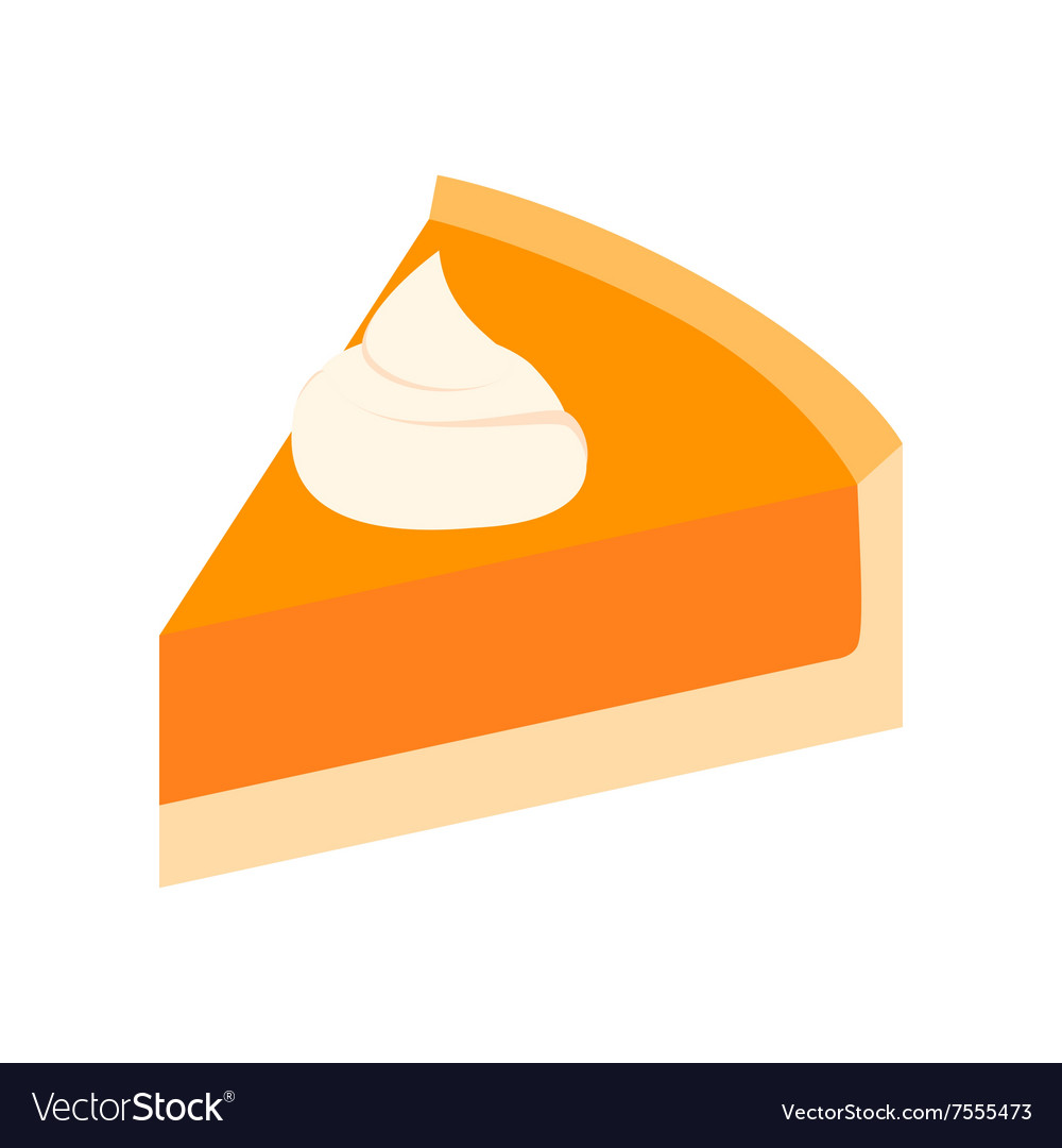 Pumpkin Pie Slice Isometric 3d Icon Royalty Free Vector Diagram Of A Image