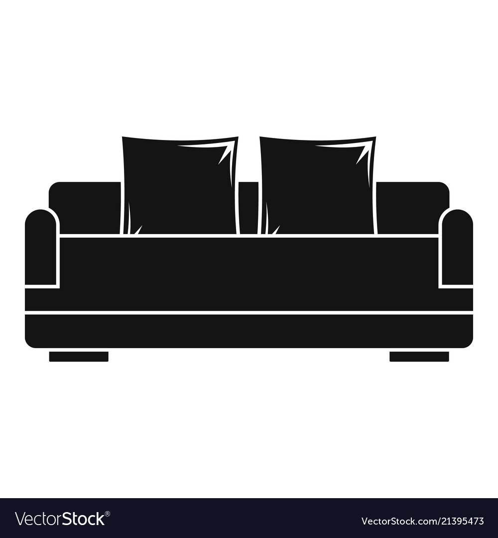Relax Sofa Icon Simple Style Royalty Free Vector Image
