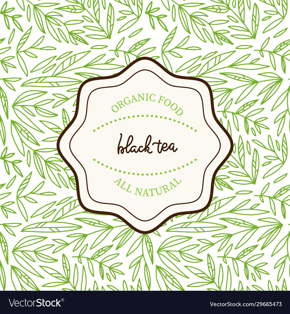 Tea leaves design template seamless vector