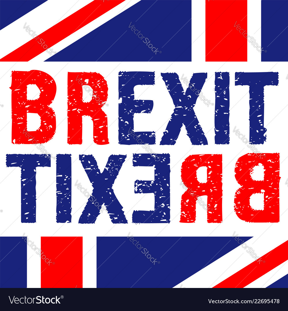 Brexit text isolated from eu themed sign on white