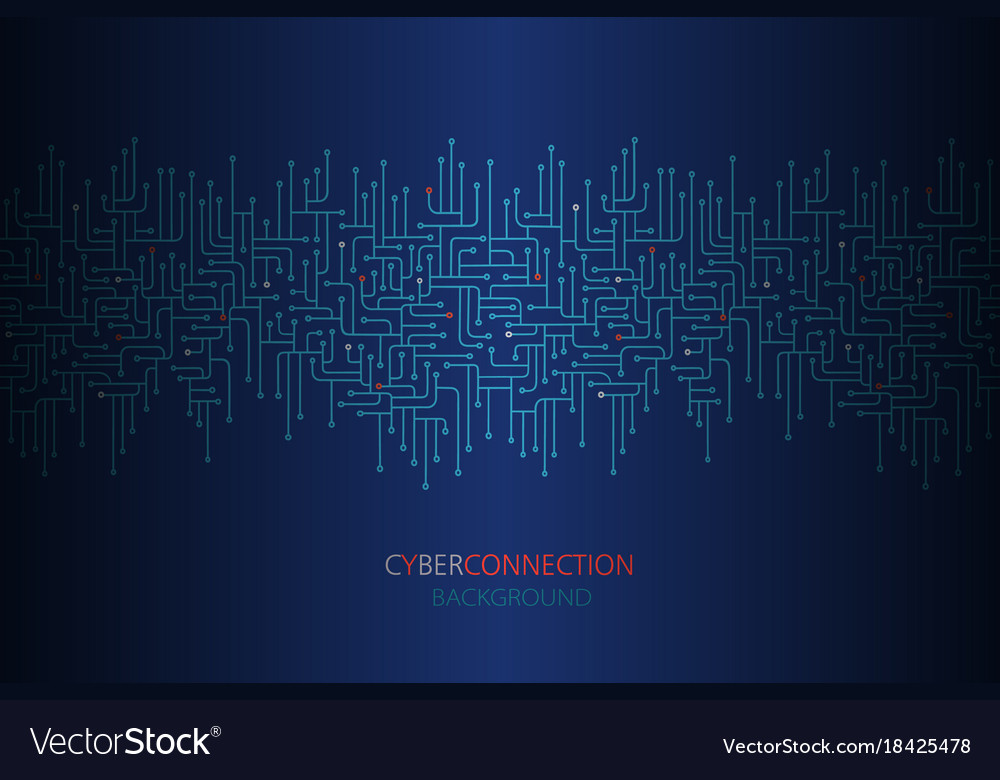 Cyber connection electronic circuit background vector image on VectorStock