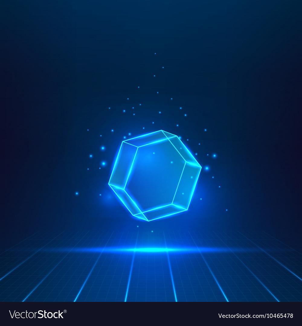 Glass hexagon