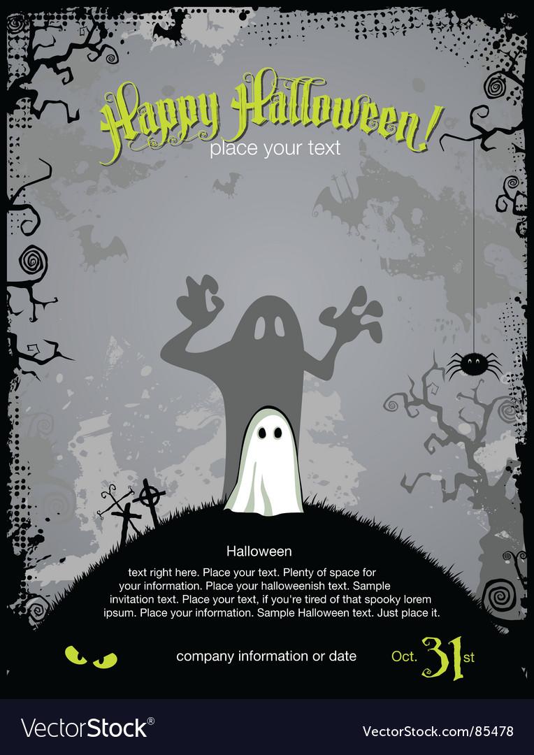 Halloween party invitation vector image