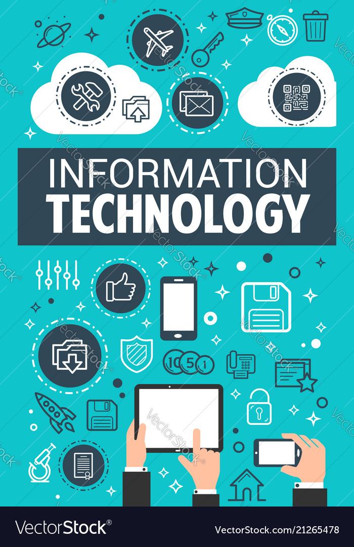technology poster information data vector royalty vectors