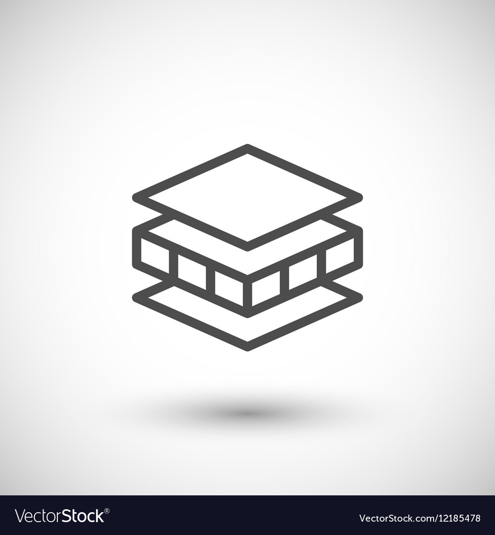 Insulation line icon vector image