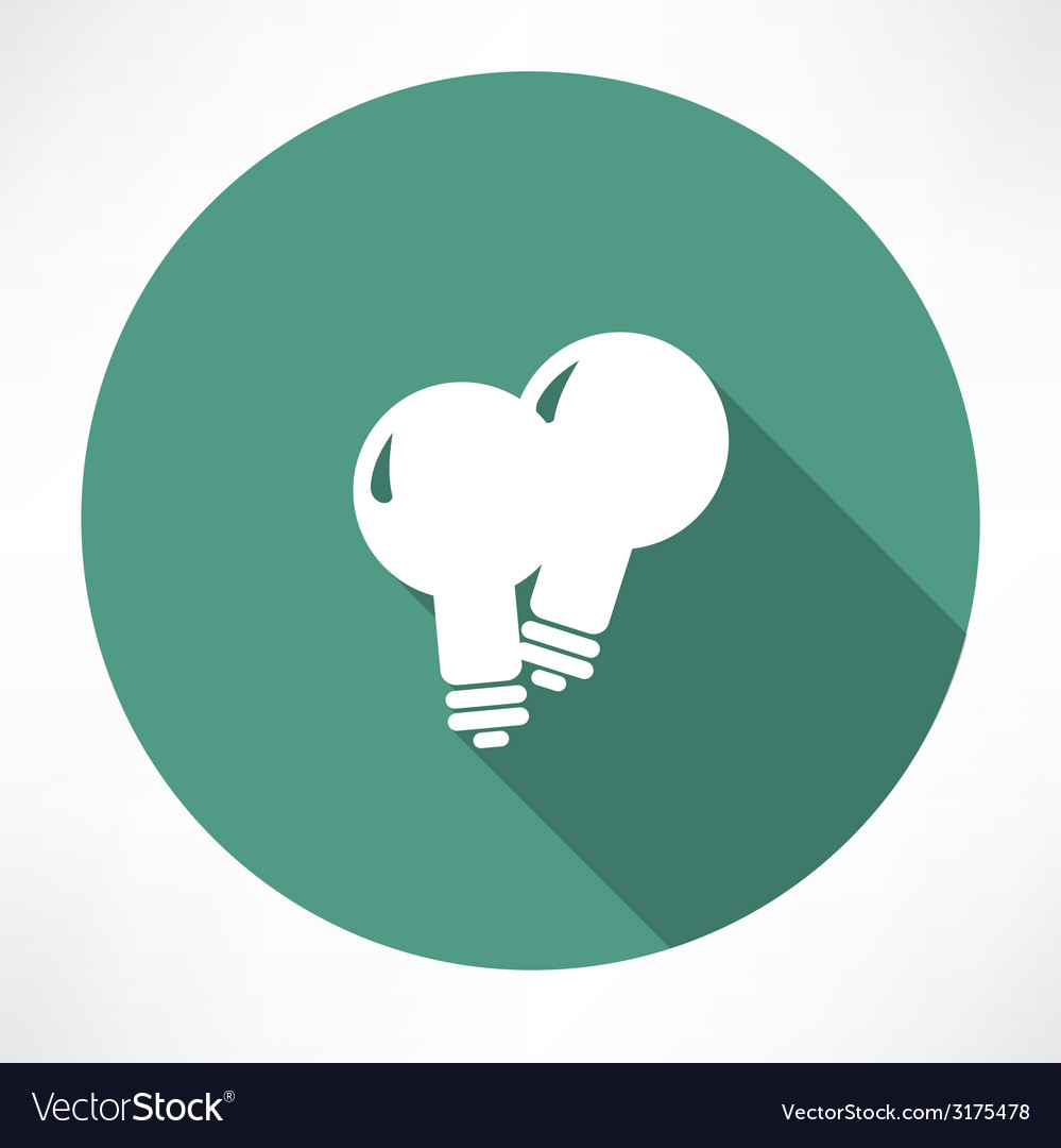Two lamp icon vector image