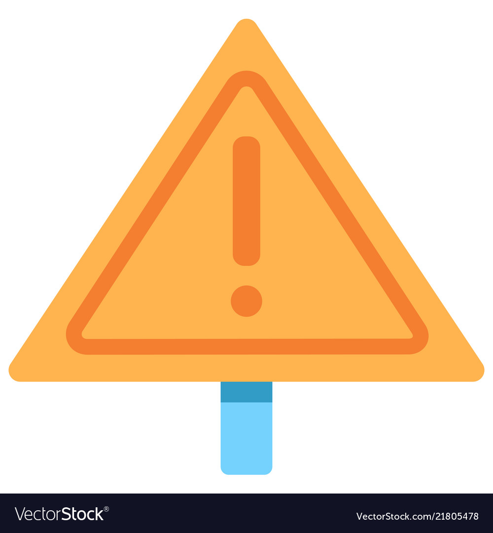 Warning sign flat icon