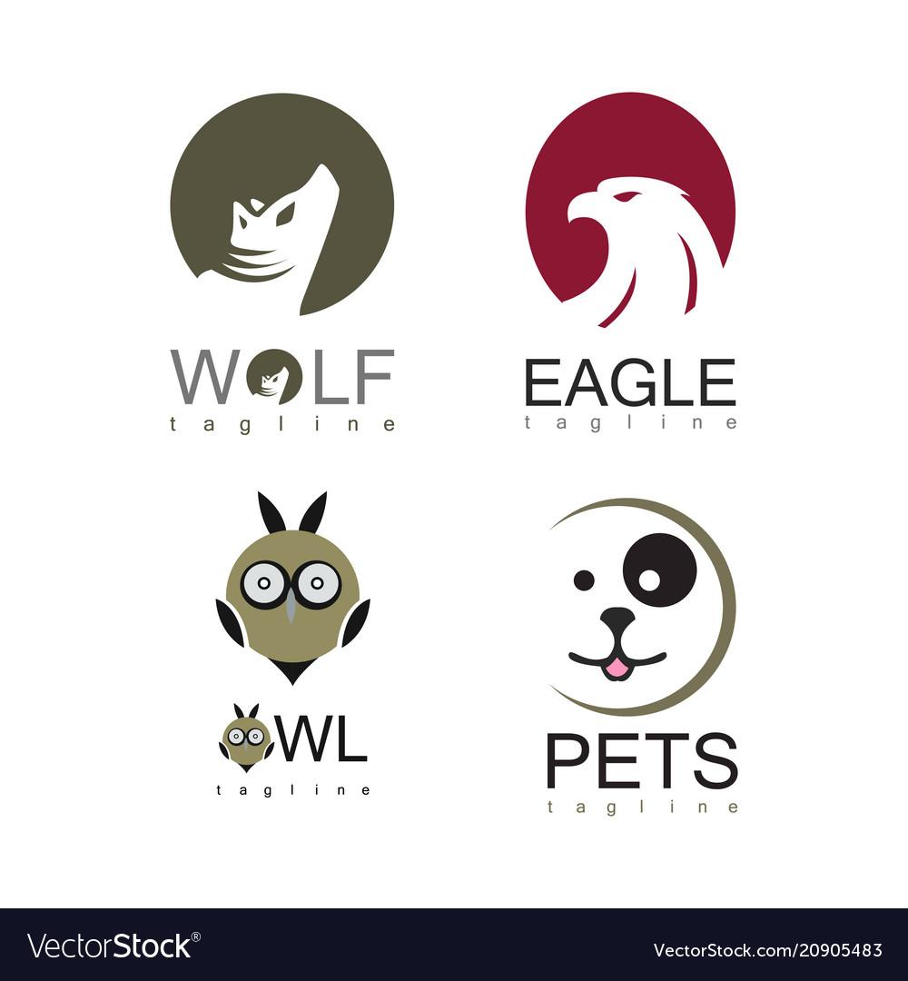 Animal logo set