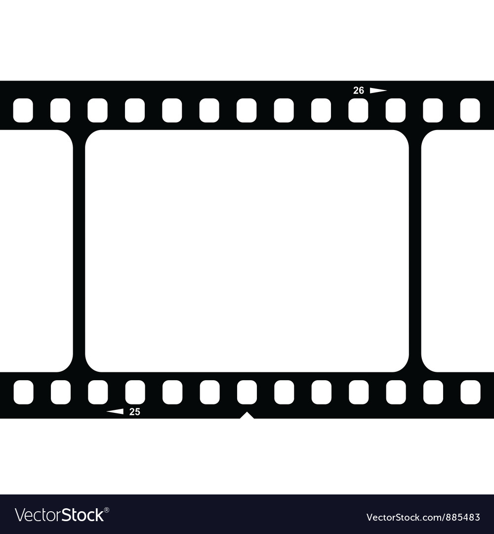 Blank 35mm film strip Royalty Free Vector Image