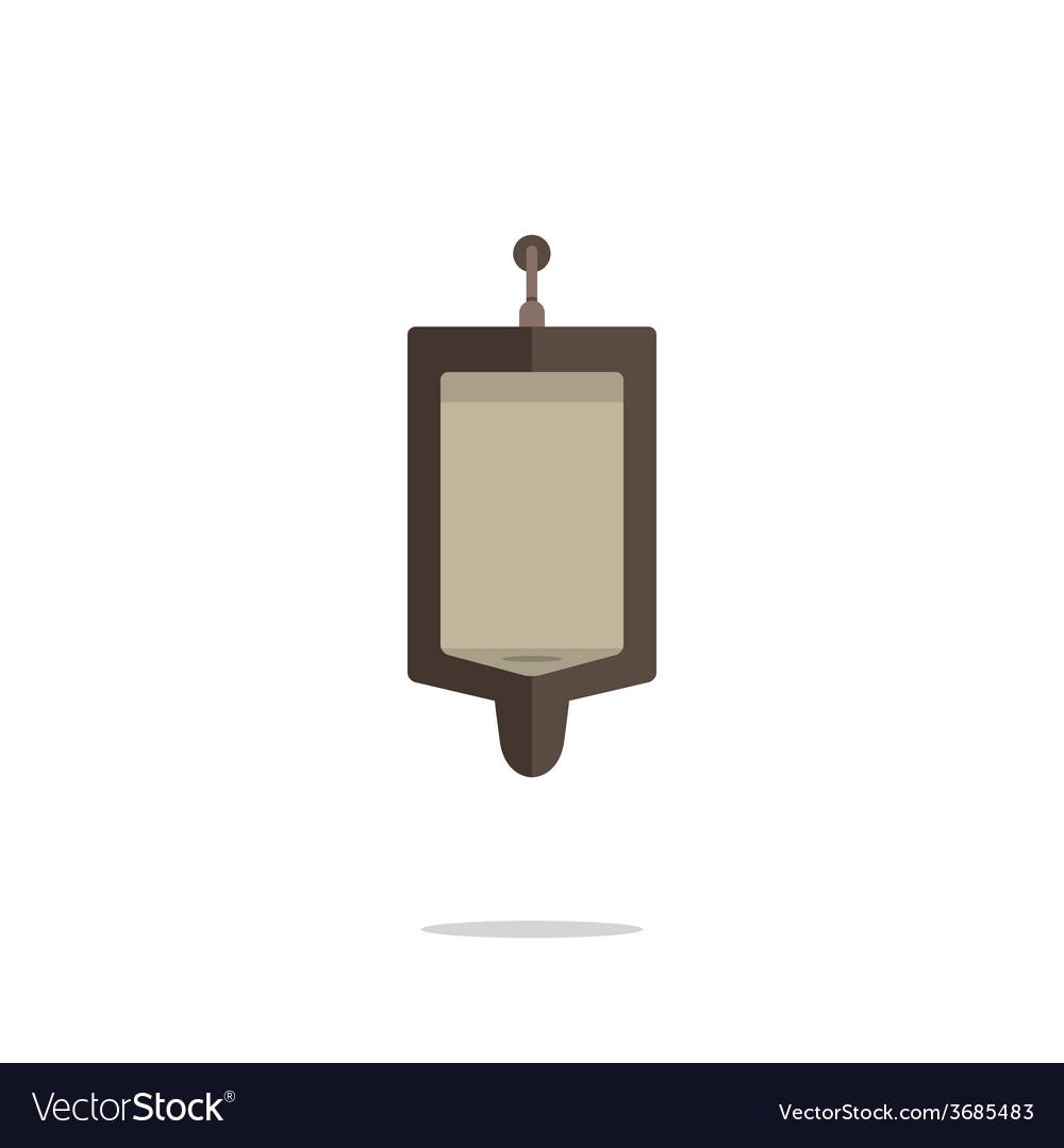 Flat Design Single Mens Urinal vector image
