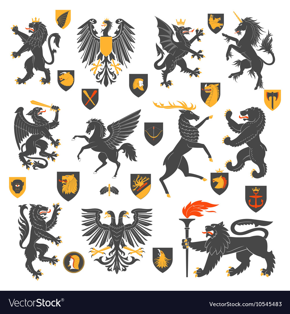 Heraldic Animals And Elements