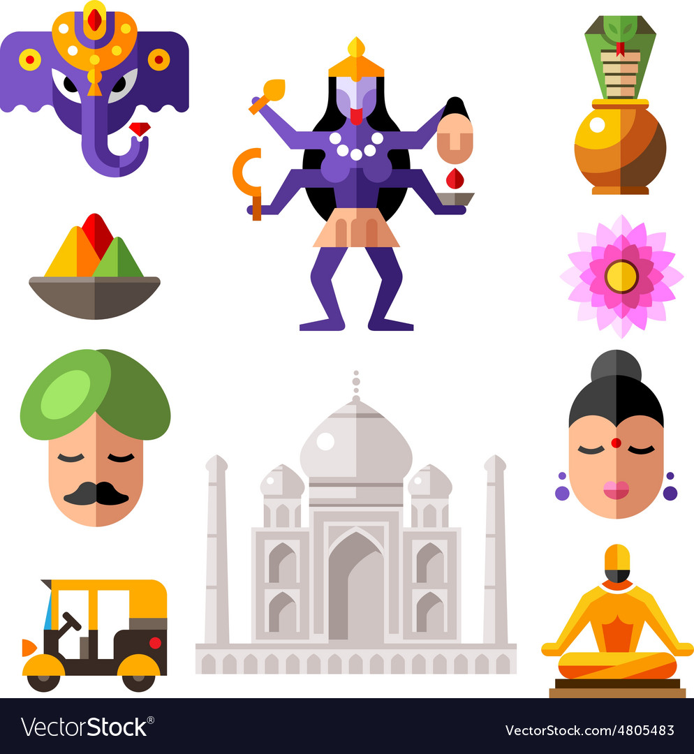 Indian icon set