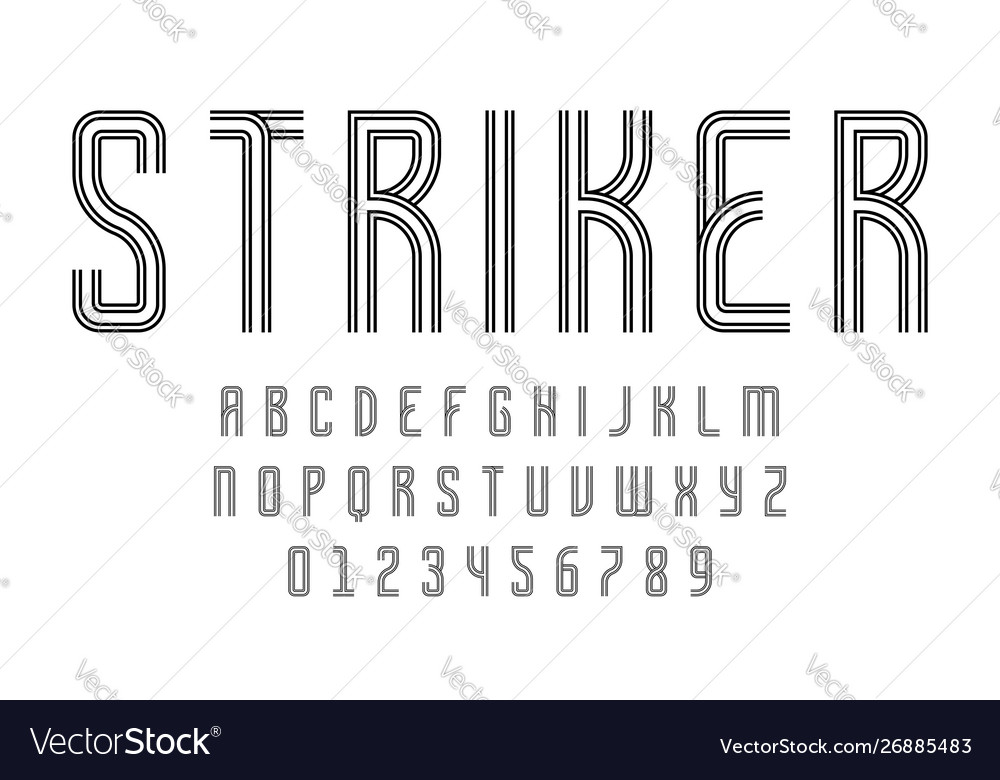 Set alphabets font modern abstract design with