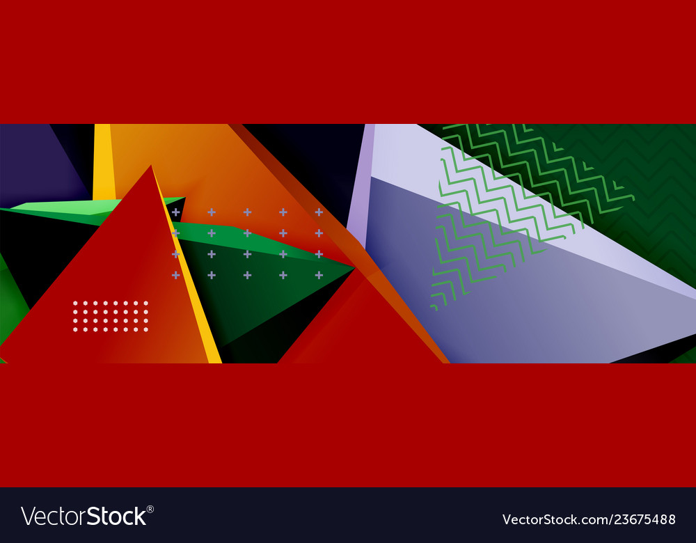3d triangular minimal abstract background