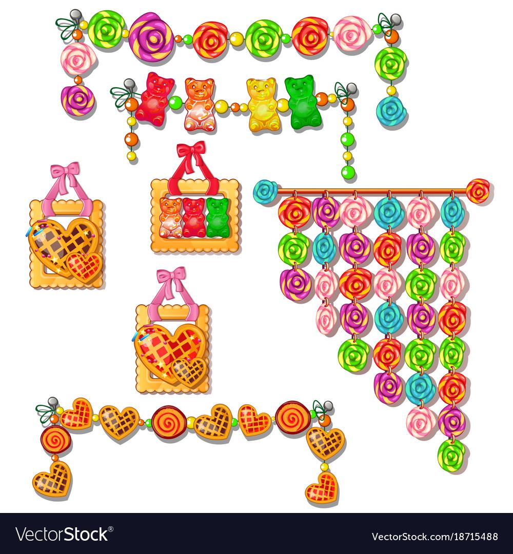 Caramel and sweet set festive decoration
