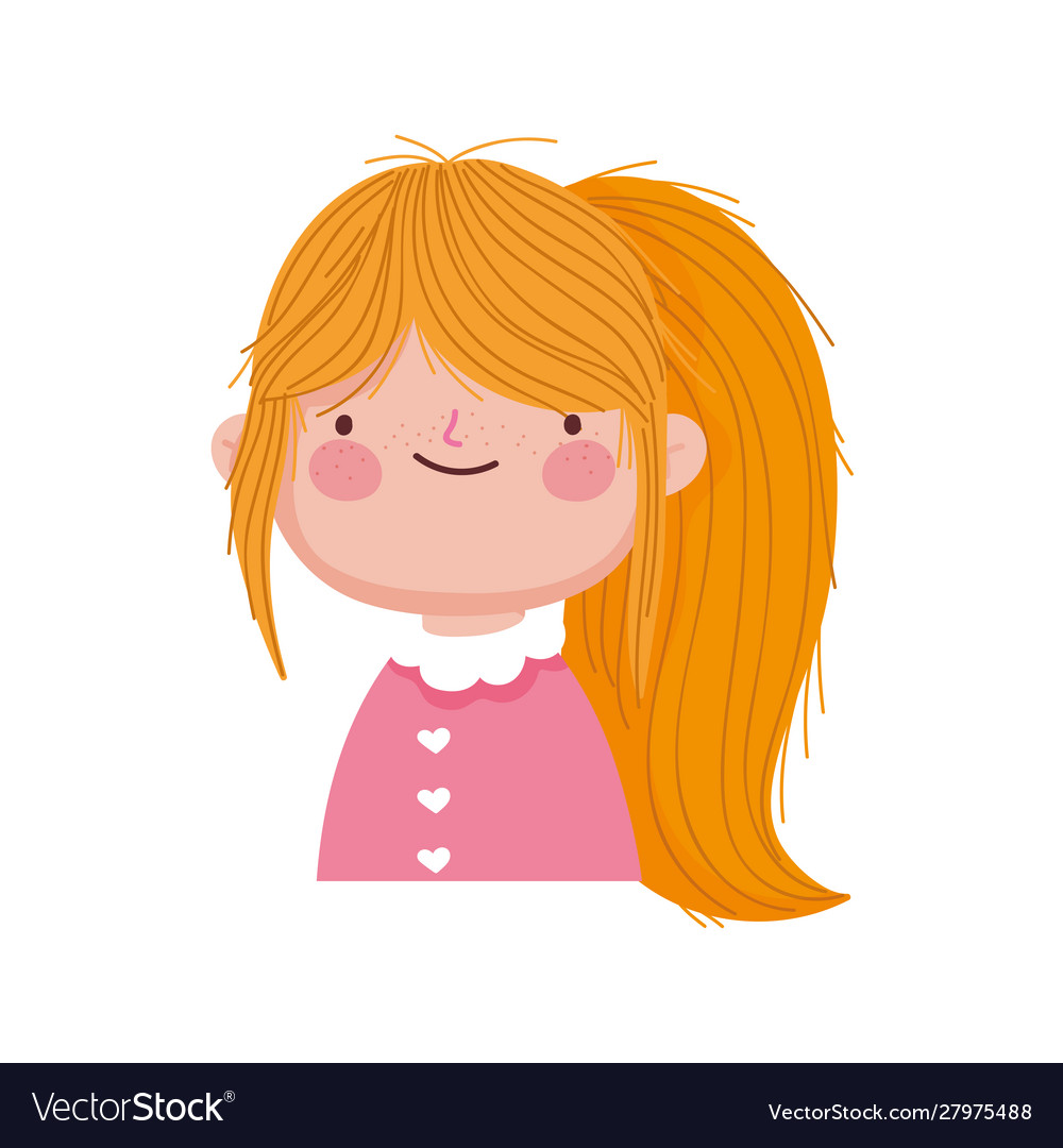 Tremendous Cute Blonde Little Girl With Ponytail Royalty Free Vector Schematic Wiring Diagrams Amerangerunnerswayorg