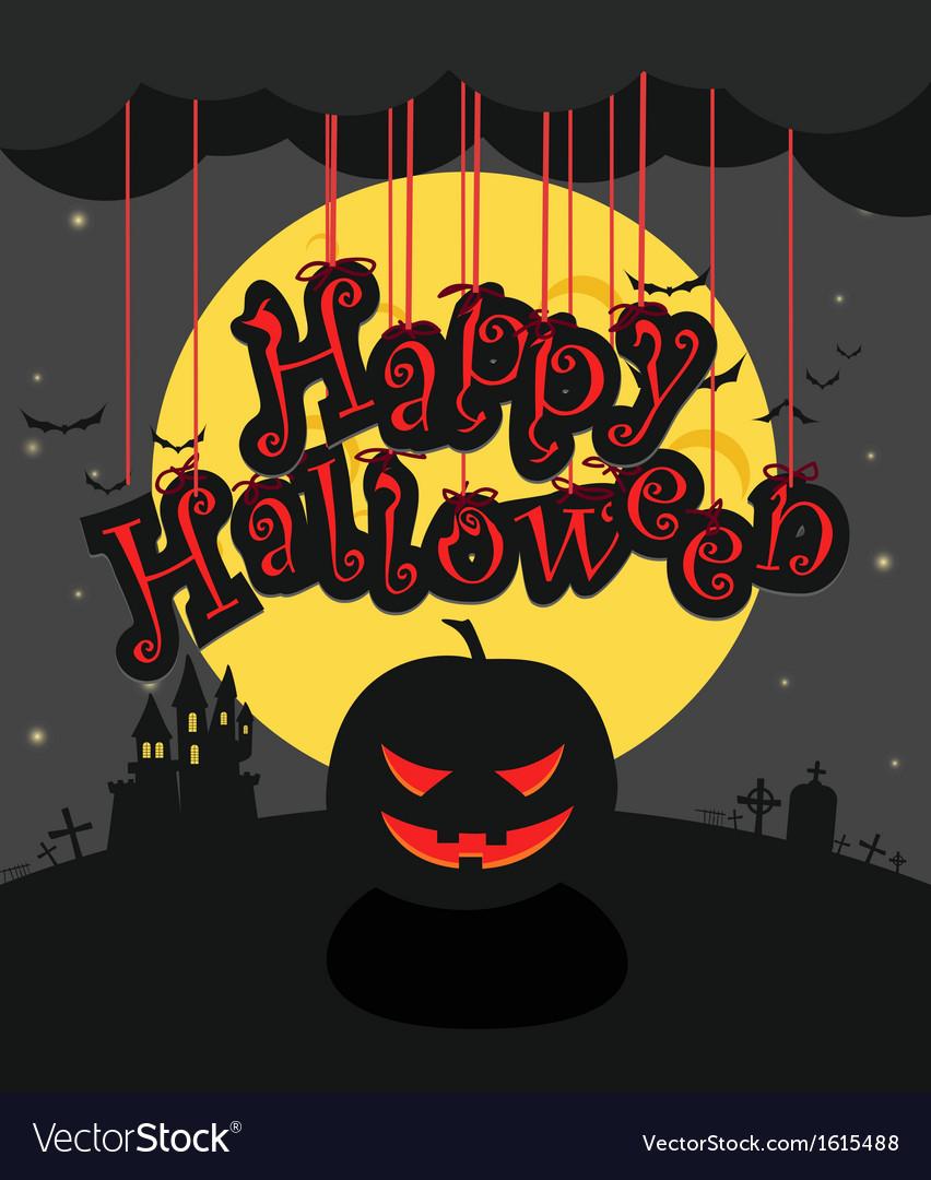 Dark sillhouettes Happy Halloween