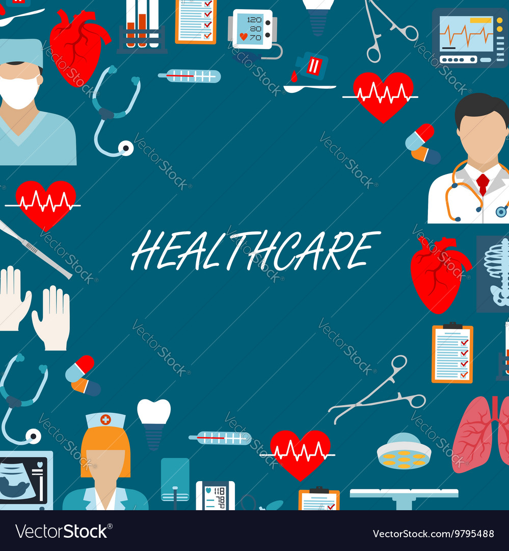 Health care icons for operating room vector image