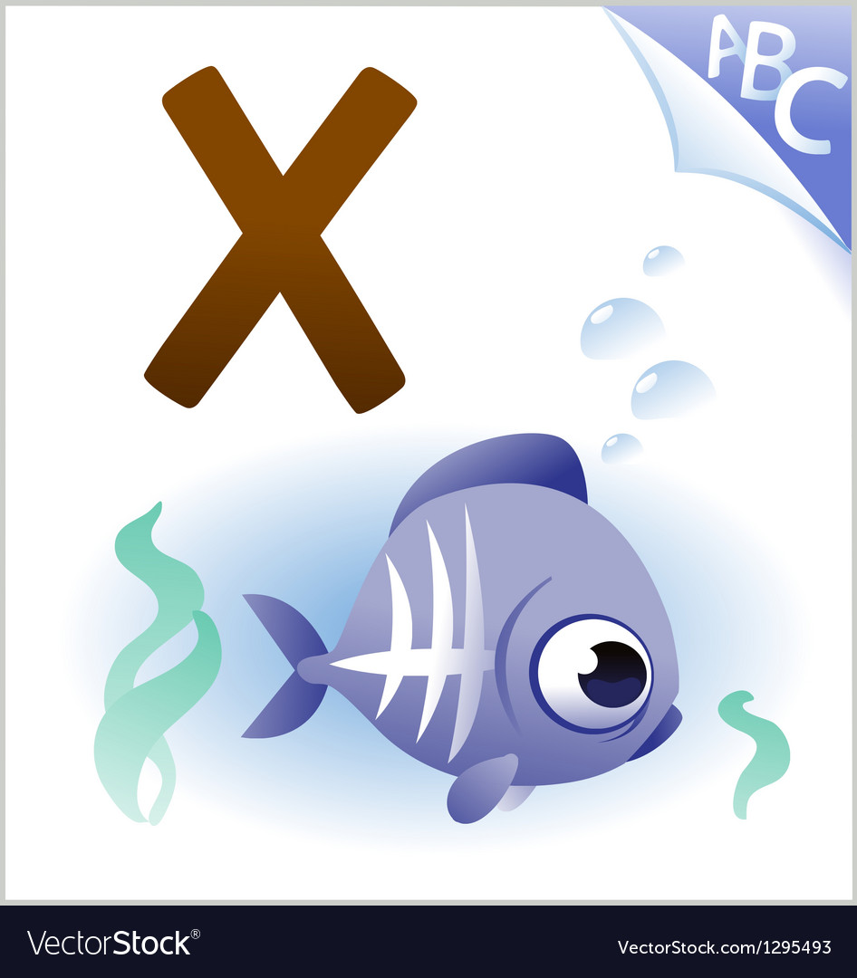 Animal alphabet for the kids X for the X-ray fish