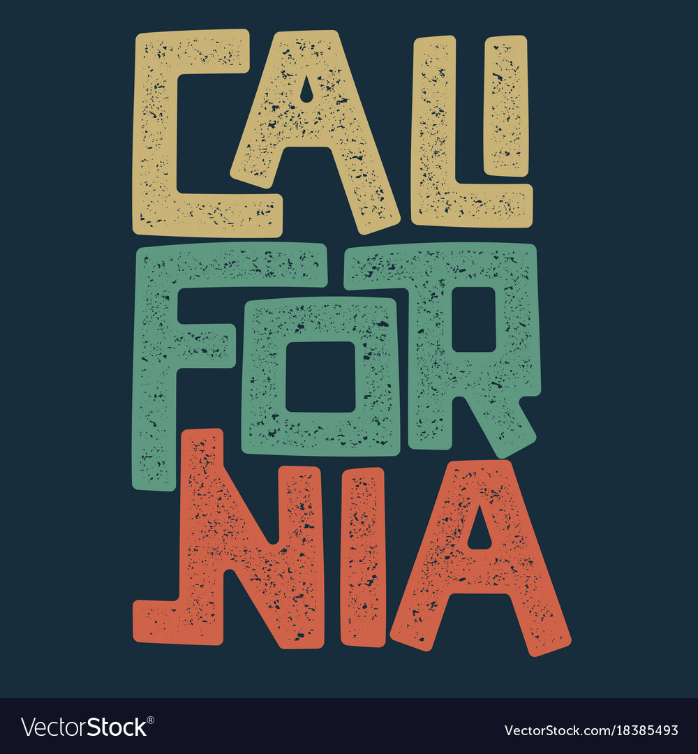 California t-shirt graphic design