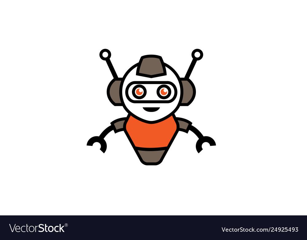 Creative robot logo