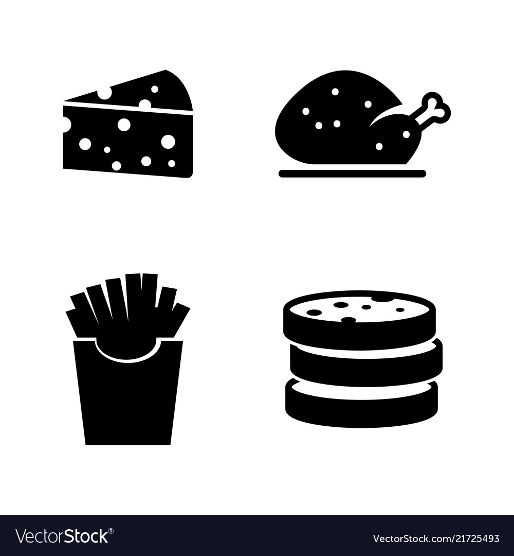 Fast food simple related icons