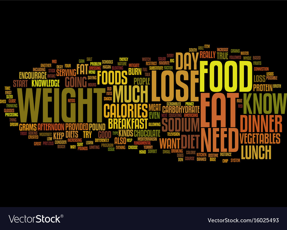 Food lose weight increase your knowledge about vector image