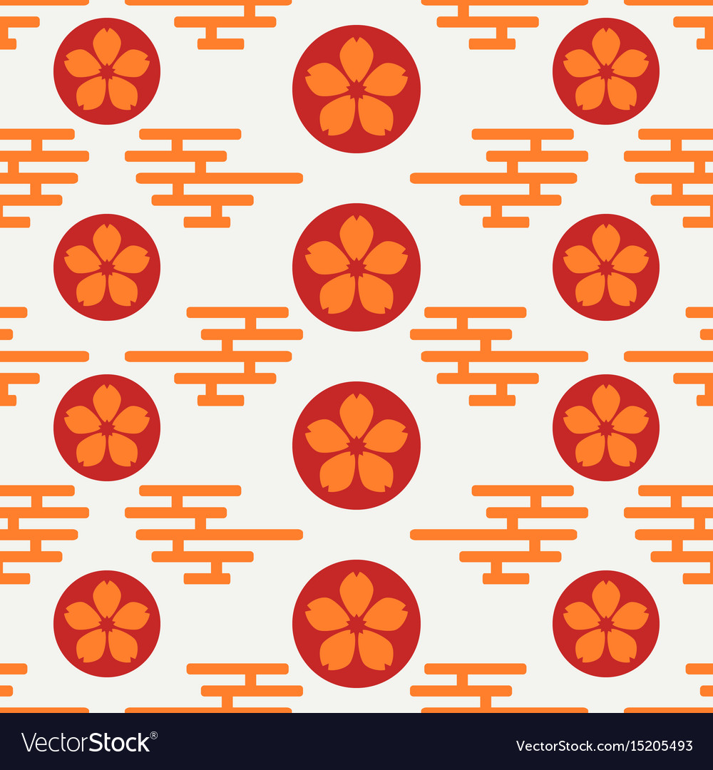 Geometric national seamless asian pattern vector image