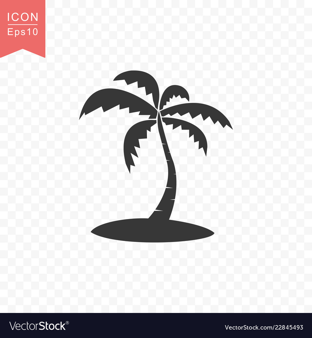 Palm tree icon simple flat style