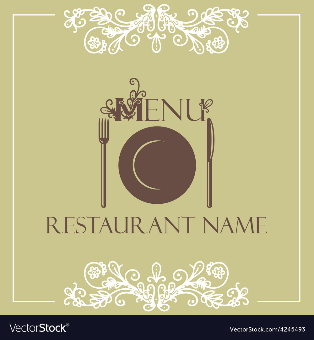 restaurant menu design template royalty free vector image