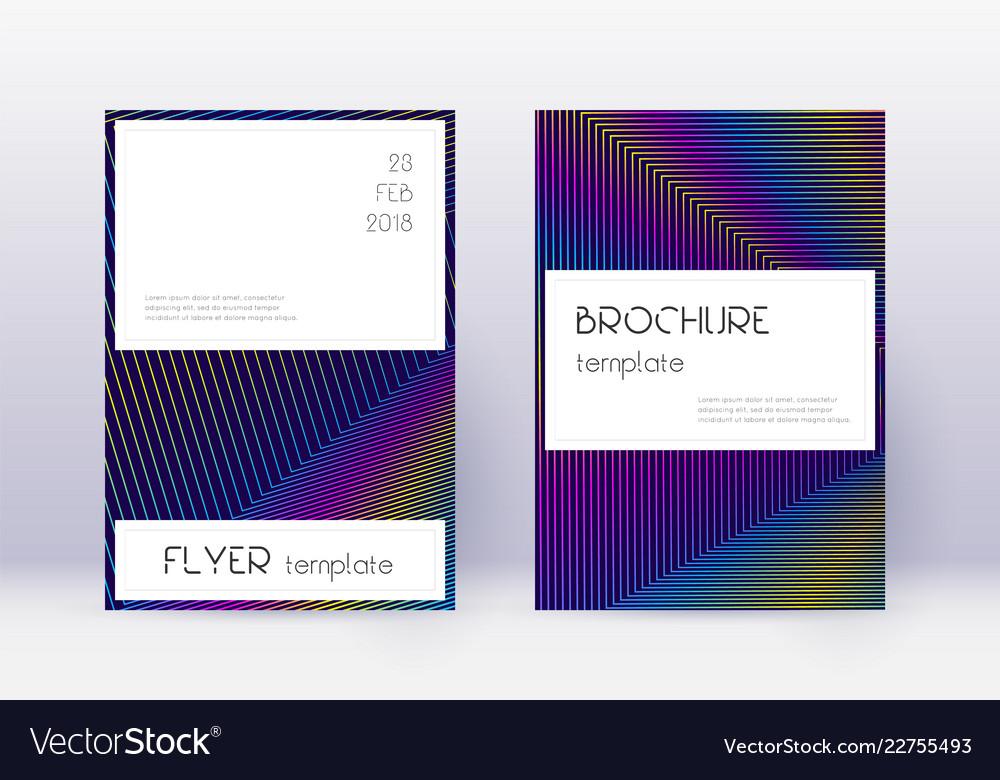 Stylish cover design template set rainbow abstrac