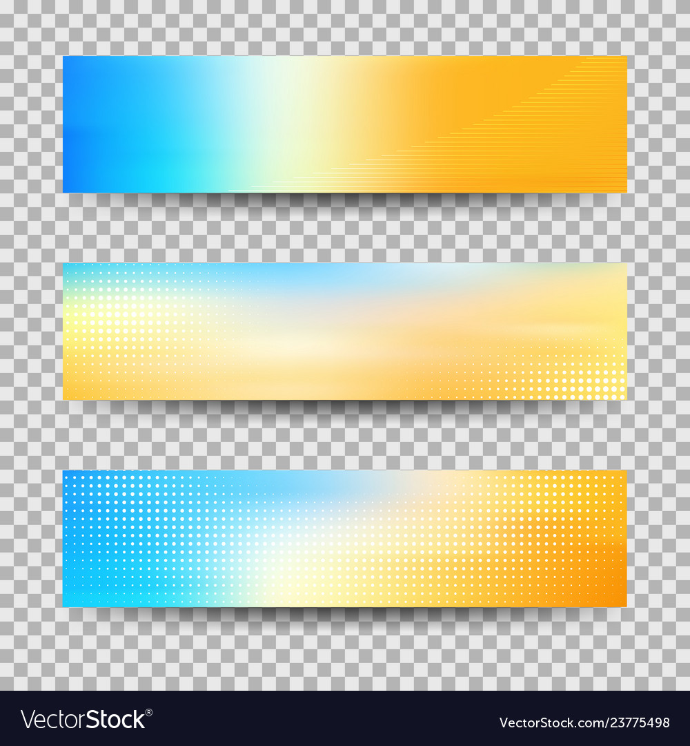 Abstract colorful banner set designs eps10