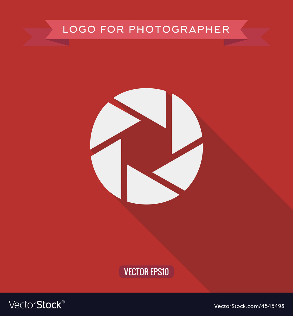 Abstract Logo Icon Photo lens for the photographer