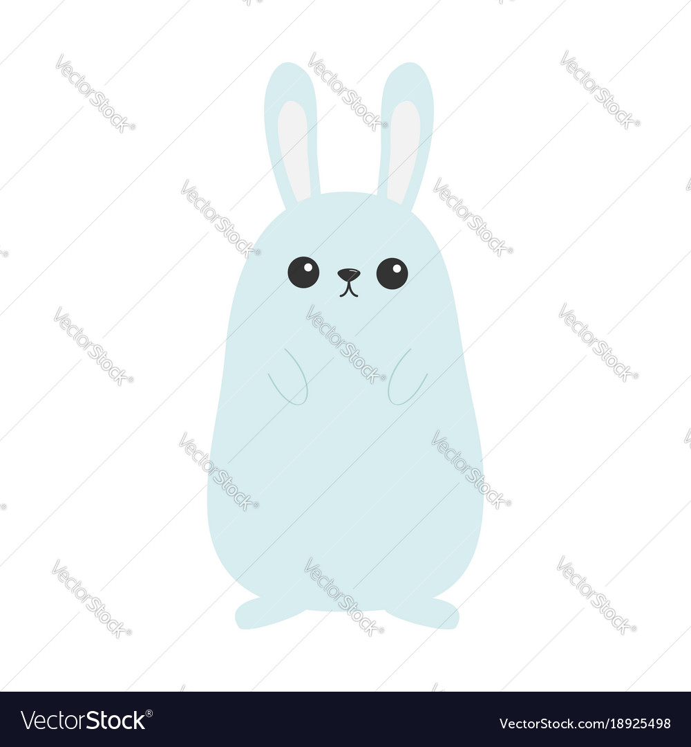 Bunny rabbit funny head face big ears cute kawaii