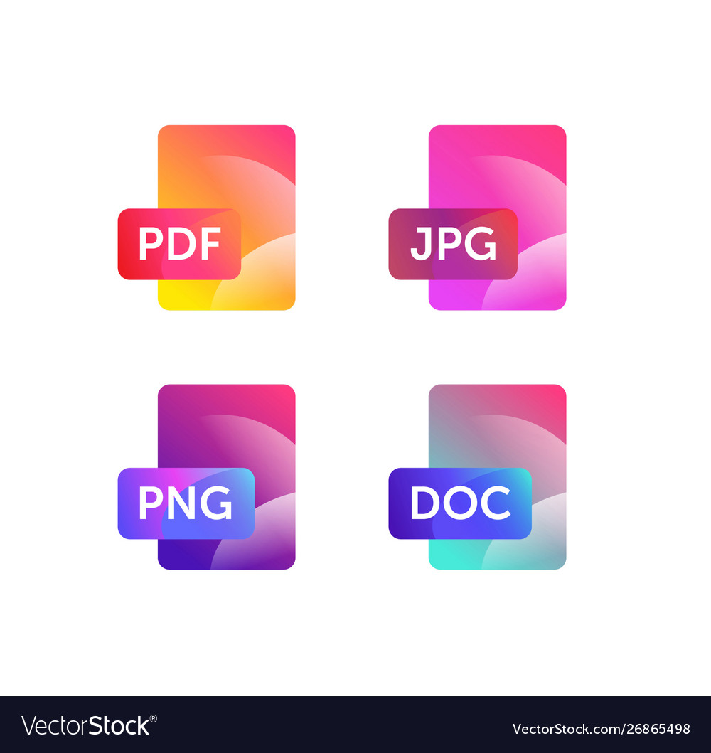 Icons for expanding formats file icons flat icons