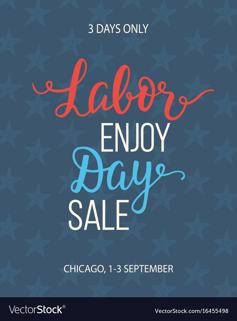Labor day sale unique advertisement poster vector image