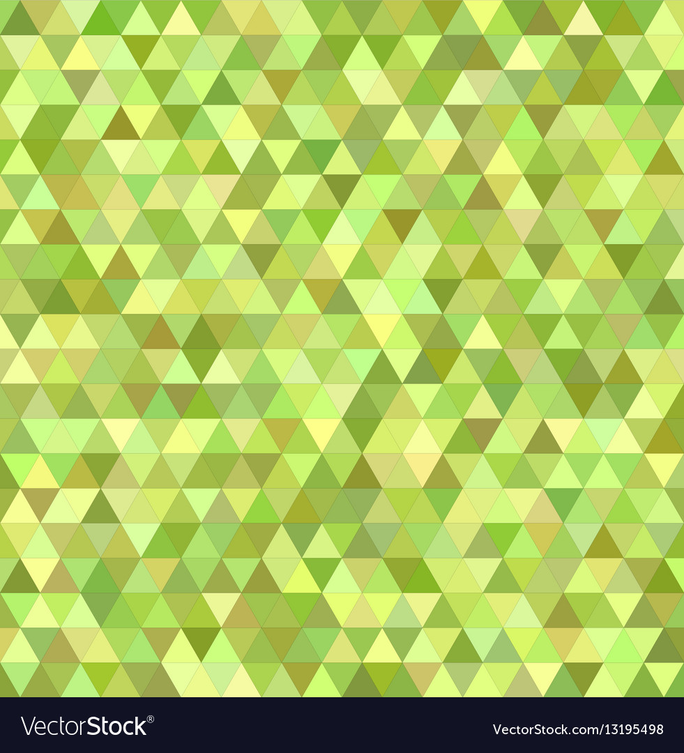 Lime triangle mosaic background design