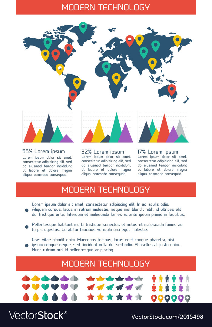 Modern flat infographic background