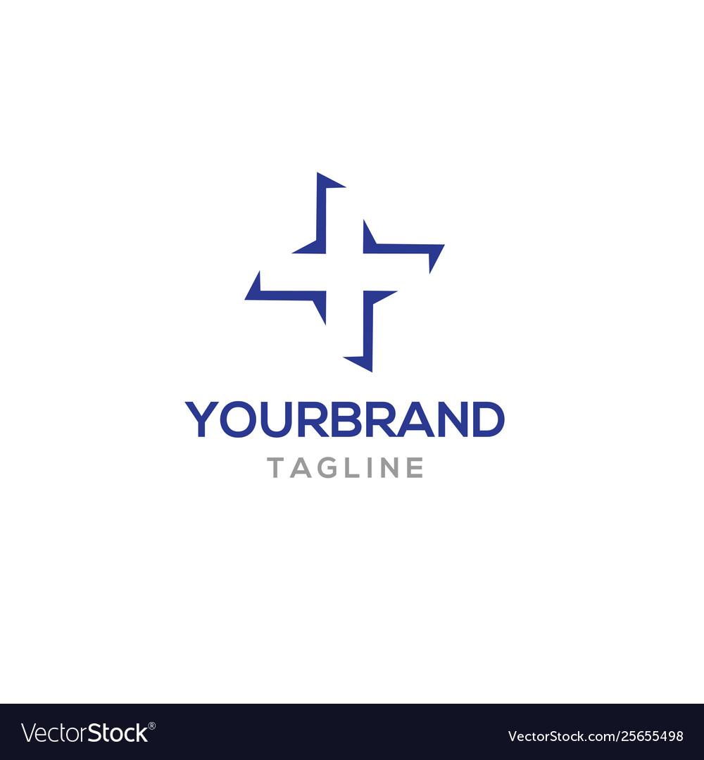 Plus logo template icon